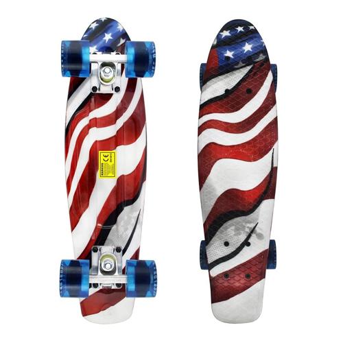 "MEKETEC 22"" Mini Cruiser Retro Complete Skateboards"