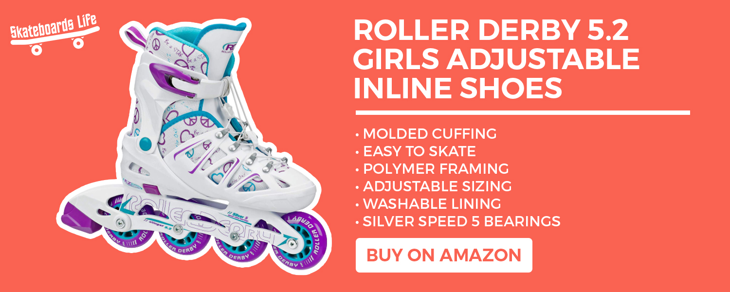 Roller Derby 5.2 Girls Adjustable Inline Shoes