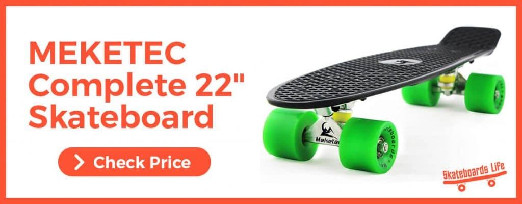 """MEKETEC Complete 22"""" Mini Cruiser Retro Skateboard for beginners"""