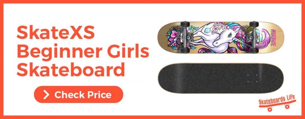 SkateXS Beginner Unicorn Best for Beginner Girls Skateboard