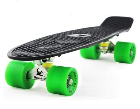 MEKETEC Complete 22 Mini Cruiser Retro Skateboard
