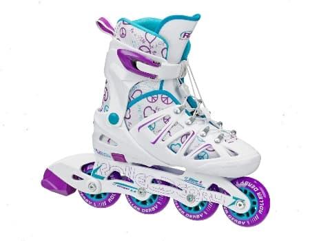 Roller Derby 5.2 Girls Adjustable Inline Shoes