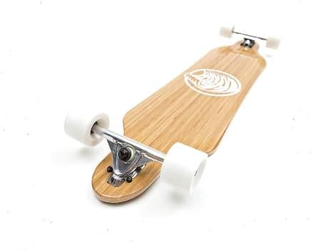 White Wave Bamboo Skating Board