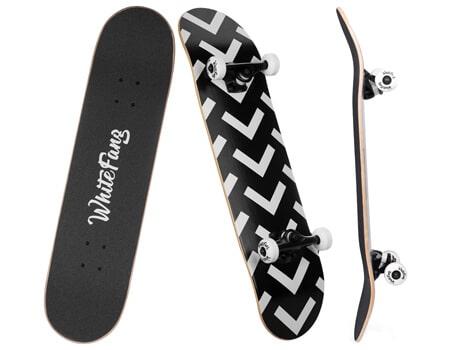 WhiteFang Skateboard For Beginners