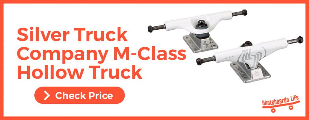 SILVER M-CLASS HOLLOW Skateboard Trucks