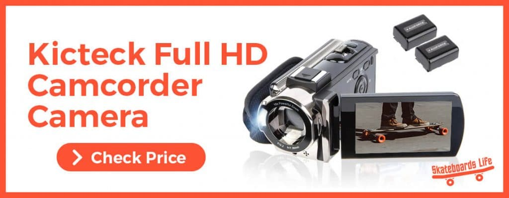 Kicteck Full HD Camcorder For Skateboarders