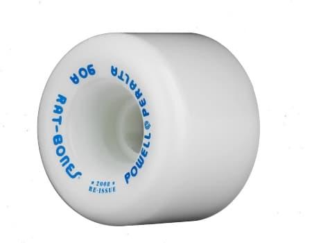 Powell-Perlata Rat Bones 90A White Skateboard Wheels